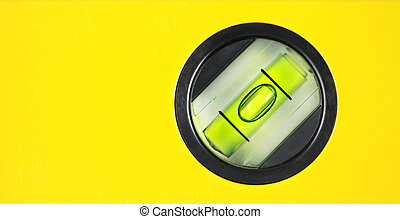 Yellow spirit level Close up image