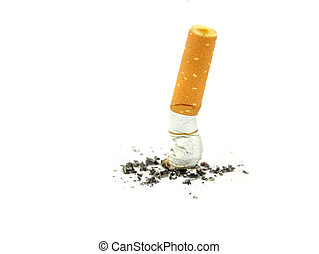 Cigarette butts Stop smoking concept