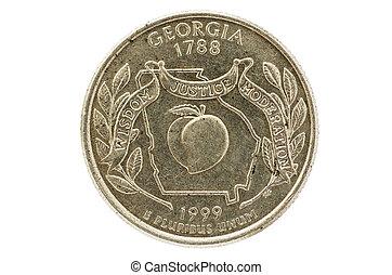 Georgia State Quarter Coin - Georgia state commemorative...