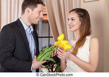 Flowers for lovely woman