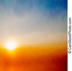 Abstract natural background with sunrise