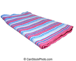color towel isolated on white background