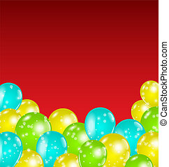 Set colorful balloons for your holiday