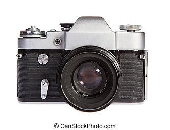 Old retro 35mm film camera soviet