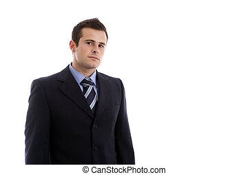 young businessman portrait isolated