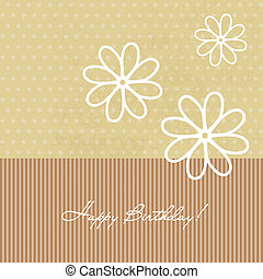 Congratulation birthday card with flowers - Congratulation...