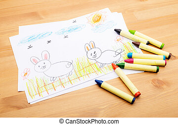 Children drawing for ester holiday