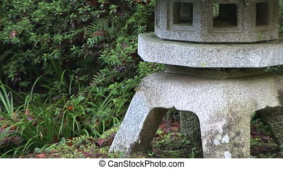 Japanese Stone Lantern Pagoda and Pond