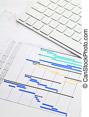 Gantt chart and keypad