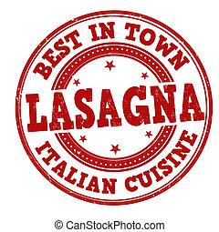 lasagna, francobollo