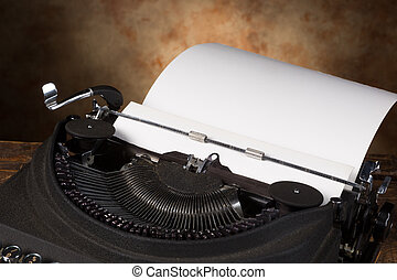 Empty page in antique typewriter