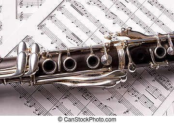 clarinet isolated - Photograph of a clarinet isolated over...