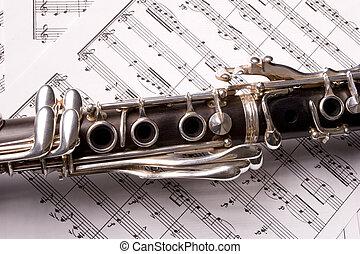 clarinete, aislado