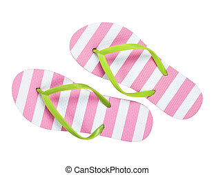 Flip Flops - Summer flip flops isolated on white background....
