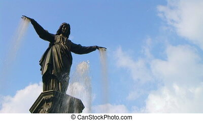 Female Statue Fountain - Female statue fountain with water...