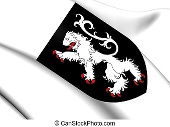 Aosta Valley Coat of Arms, Italy.