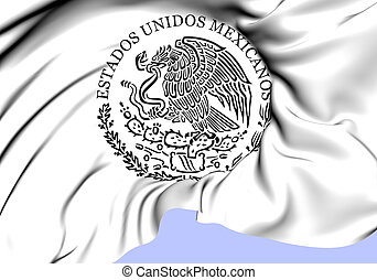 Federal Government of Mexico Seal. Close Up.