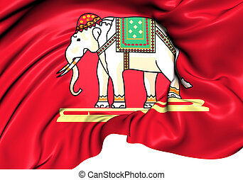 State Flag of Siam (1916-1917). Close Up.