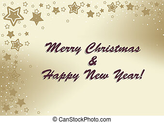 Holiday greetings - Merry Christmas & Happy New Year vector...