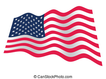 USA flag waving - American flag with stars and stripes...