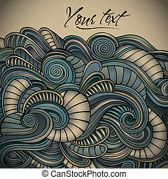 Vintage decorative waves background.