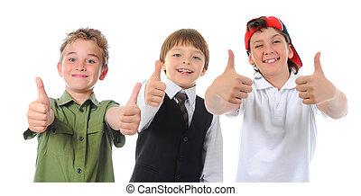 Gruppe, posierend, Kinder
