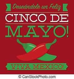 Retro style Cinco de Mayo card in vector format.