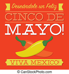 Retro style Cinco de Mayo card in vector format