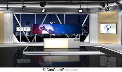 NewsStudio_100C2_Shift left - -This is a 3d News studio It...