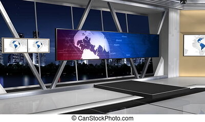 NewsStudio_100C3_Push - -This is a 3d News studio It...
