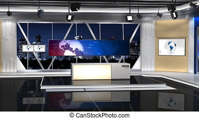 NewsStudio_100C2_Shift Right - -This is a 3d News studio It...