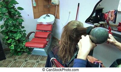 dry hair barber shop