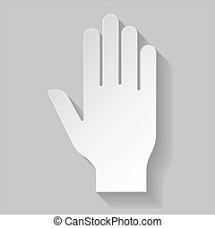 Stop sign - Illustration of hand as stop sign in paper style...