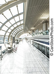Modern undeground station filled with light. - Perspective...