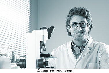 Young researcher in the laboratory