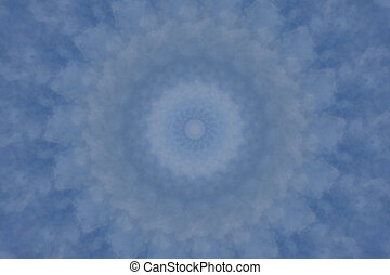 Soft Blue Mandala Background