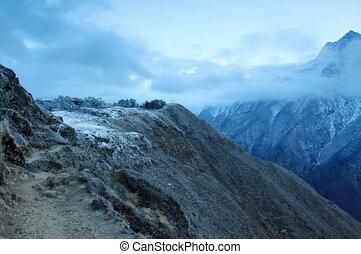 sunrise in the mountains Himalayas - 4K. Timelapse sunrise...