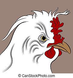 Fluffed Hen - An image of a fluffed hen.