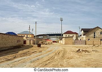 City suburb. - Suburb of the city of Zhanaozen in...