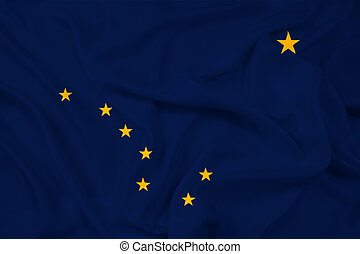 Waving Alaska State Flag