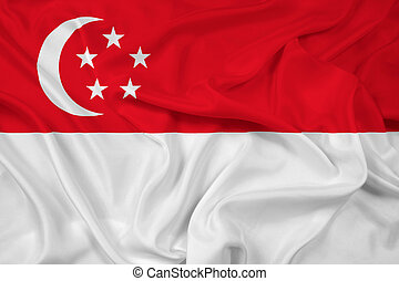 Waving Singapore Flag