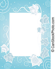 Frame With Fancy Ivy - Decorative border with abstract...