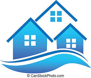 Houses logo - Real Estate Houses vector icon logo