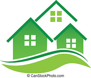 Green Houses logo - Green Houses vector icon