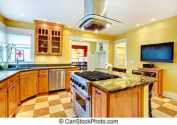 KItchen  room with tv