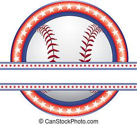 Baseball Design - Red White Blue