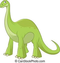 Diplodocus - Vector image of an cartoon funny diplodocus