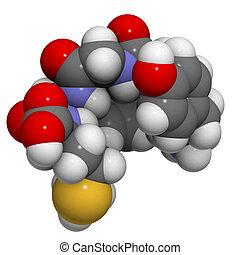 Enkephalin Met-enkephalin molecule - Met-enkephalin molecule...