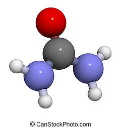 Urea (carbamide) molecule, chemical structure - Urea...