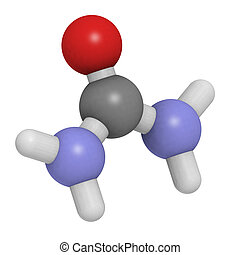 Urea carbamide molecule, chemical structure - Urea carbamide...